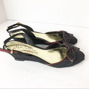 Sam Edelman Shoes - SZ 6.5 Sam Edelman Polka Dot Red Trim Sandals